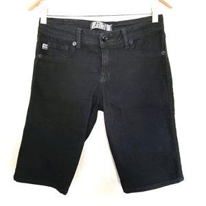 17/21 Exclusive Denim Black Bermuda Shorts Size 4